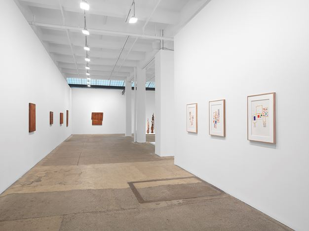 Exhibition view: Mildred Thompson, Throughlines: Assemblages and Works on Paper from the 1960s to the 1990s, Galerie Lelong & Co., New York (18 February–27 March 2021). Courtesy Galerie Lelong.
