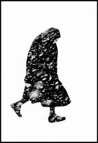 Woman in the snow, Hamburg, 1954 by Thomas Hoepker contemporary artwork photography