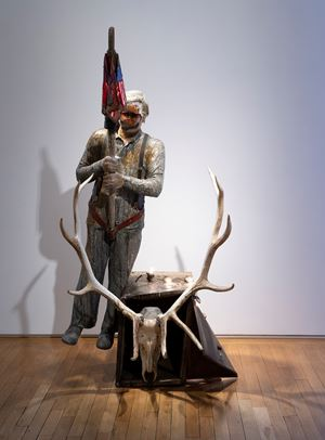 The Grey Man's Parade by Edward Kienholz and Nancy Reddin Kienholz contemporary artwork