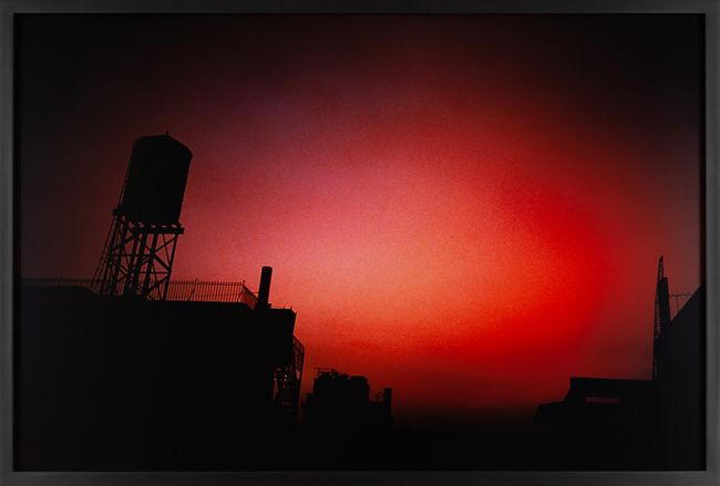 Red sky from my window, NYC by Nan Goldin contemporary artwork
