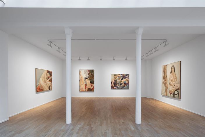 Exhibition view: Philip Pearlstein, At 95, Templon, Paris (25 May–20 July 2019). Courtesy Templon, Paris-Bruxelles and Philip Pearlstein. Photo: © Diane Arques / ADAGP, Paris, 2019.