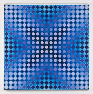 kezdi-kroa by Victor Vasarely contemporary artwork