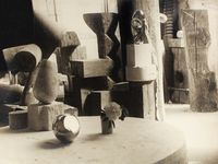 Vue d'atelier, Mlle Pogany II by Constantin Brancusi contemporary artwork photography