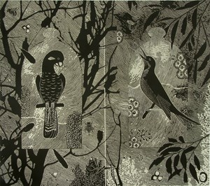 In the service of trees - bird pollinators by Jenny Kitchener contemporary artwork