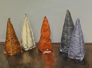 Coloured Cones by Michaël Borremans contemporary artwork