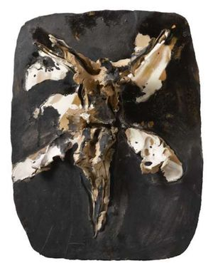 Crucifixion by Lucio Fontana contemporary artwork