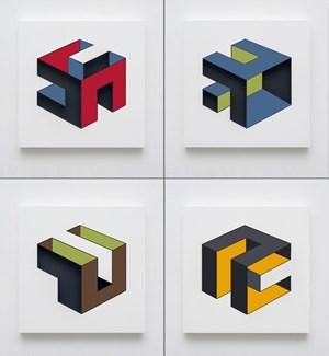 Situação espacial 2, 7, 10, 5 by Eduardo Coimbra contemporary artwork