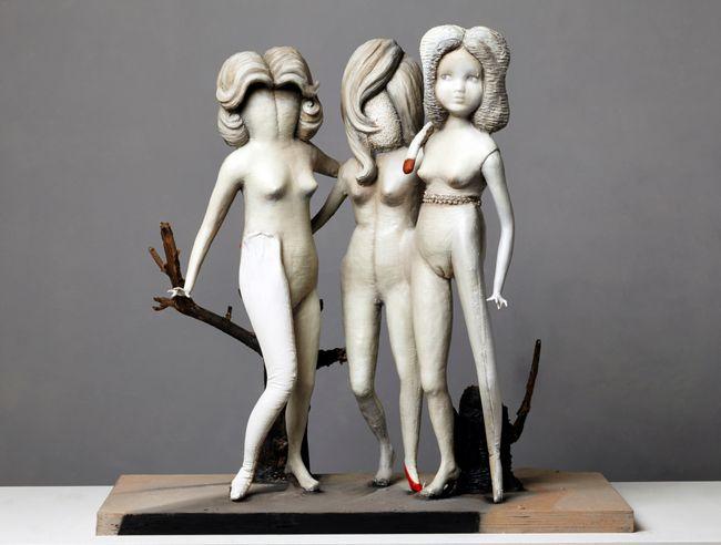 Three Graces by Cathie Pilkington contemporary artwork