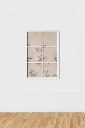 Fenstermalerei #5 by Fredrik Værslev contemporary artwork