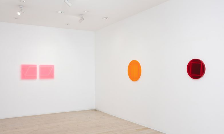Exhibition view: Kāryn Taylor, Squaring the Circle, Gallery 9, Sydney (16 June–10 July 2021). Courtesy Gallery 9, Sydney.