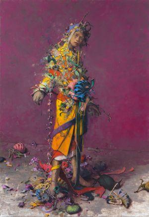 Blindstich by Jonas Burgert contemporary artwork