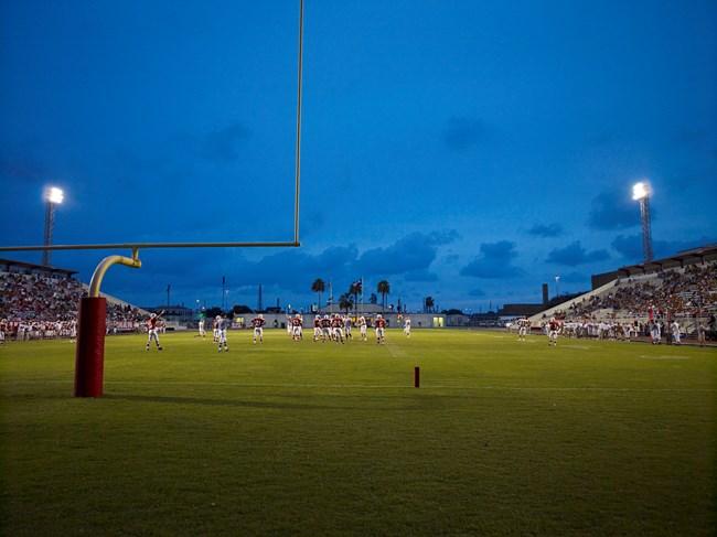 Football Landscape #12 (Alice vs. W.B. Ray, Corpus Christi, TX) by Catherine Opie contemporary artwork