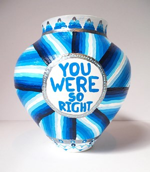 YOU WERE SO RIGHT/FAITH IS A MENTAL ILLNESS by Lucas Grogan contemporary artwork