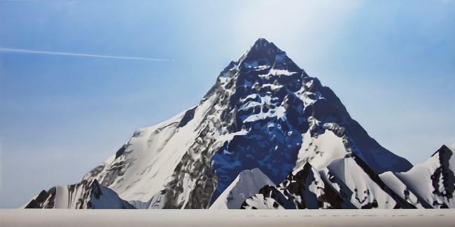 K2 with jet and tracks by Tony Lloyd contemporary artwork