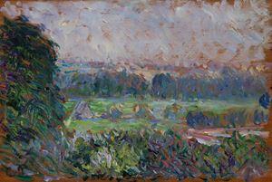 Le grand noyer et le pré, Eragny by Camille Pissarro contemporary artwork