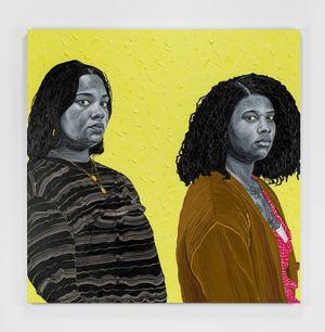 Olivia & Ivy by Otis Kwame Kye Quaicoe contemporary artwork painting