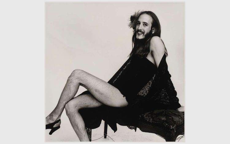 Peter Hujar,Cockette [Bearded Cockette], 1971© 1987 The Peter Hujar Archive LLC, courtesy The Peter Hujar Archive and Maureen Paley, London.
