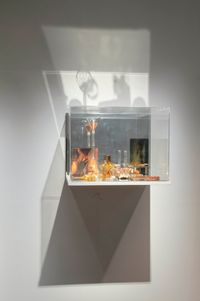 What Colour is the Sacred? (Orange) by Janet Laurence contemporary artwork sculpture