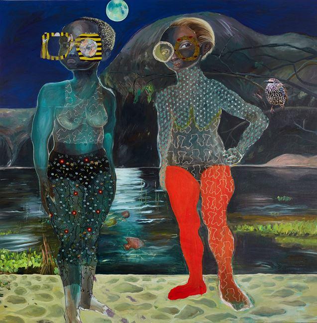 Moon shield by Ndidi Emefiele contemporary artwork