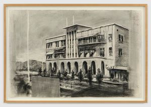 Drawing for 'Tide Table' (Beach Hotel) by William Kentridge contemporary artwork