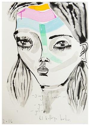 Sing flower girl girl by Del Kathryn Barton contemporary artwork