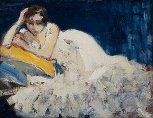 Femme couchée (Guus Van Dongen) by Kees Van Dongen contemporary artwork