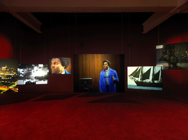 Exhibition view: Isaac Julien, Lessons of the Hour–Frederick Douglass, Metro Pictures, New York (8 March–13 April 2019). Courtesy Metro Pictures, New York.
