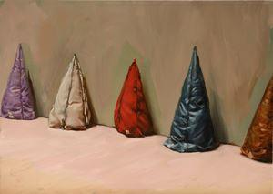 Five Cones by Michaël Borremans contemporary artwork