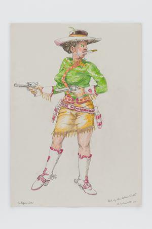 Girl of the Golden West - California by Robert Colescott contemporary artwork