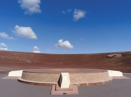 Roden Crater by James Turrell features skyspaces in the Arizona desert