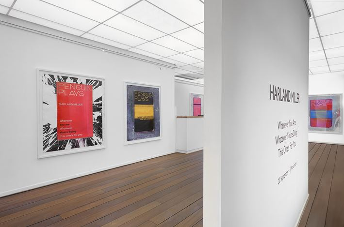 Exhibition view: Harland Miller,Wherever You Are Whatever You're Doing This One's For You, Reflex Amsterdam (20 September–24 Nov 2013). Courtesy Reflex Amsterdam.