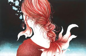 She is pretty, but a bit funny by Eri Ōta contemporary artwork works on paper, print