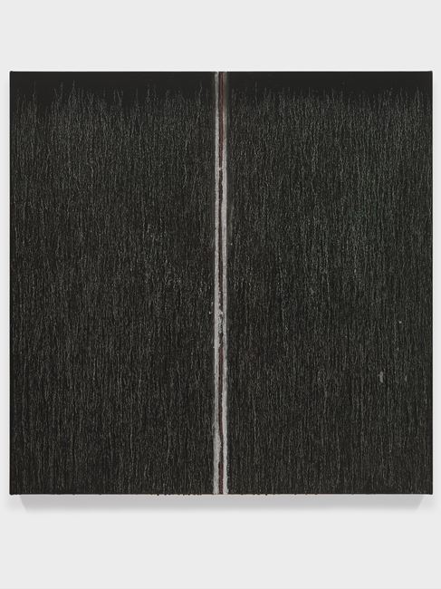 Black with Red in the Middle by Pat Steir contemporary artwork