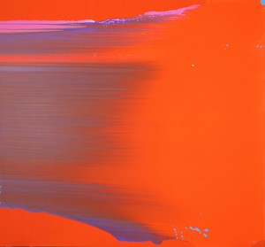 Pure Abstraction [Cadmium Orange] by Charlie Sheard contemporary artwork