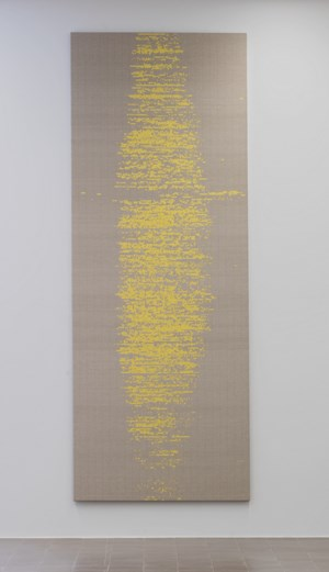 Binary Tapestry (Sunshine) by Susan Morris contemporary artwork mixed media, textile