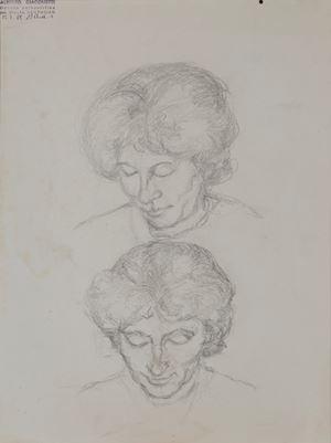 Double étude d'Annetta Giacometti by Alberto Giacometti contemporary artwork