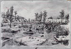 Drawing for City Deep (Zama Zama Pits) by William Kentridge contemporary artwork