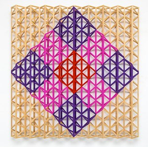 Red Square Breaking into Rainbow Colours by Rasheed Araeen contemporary artwork