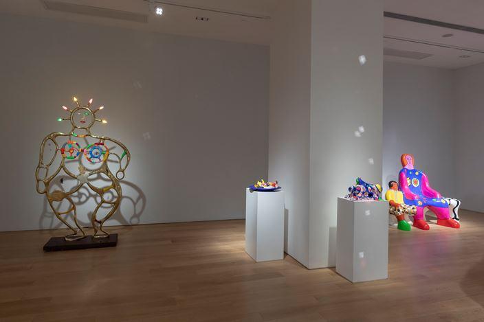 Exhibition view: Niki de Saint Phalle, Solo Exhibition,Tang Contemporary Art, Hong Kong (12 July–17 August 2019). Courtesy Tang Contemporary Art.