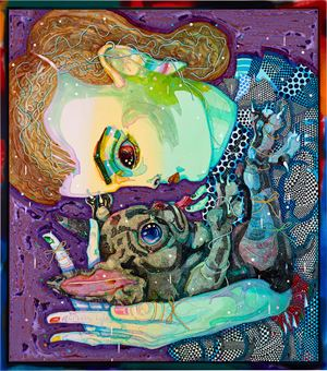 linger on by Del Kathryn Barton contemporary artwork