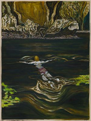 toward a shore by Billy Childish contemporary artwork