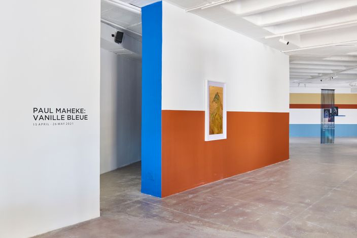 Exhibition view: Paul Maheke, Vanille Bleue, Goodman Gallery, Johannesburg (15 April–26 May 2021). Courtesy Goodman Gallery.