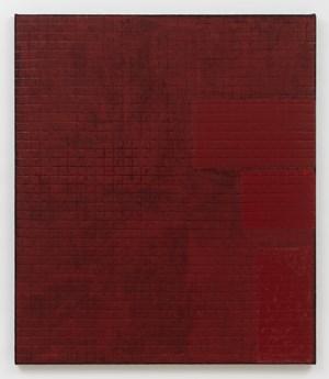 Allover Compose Red by Sergej Jensen contemporary artwork