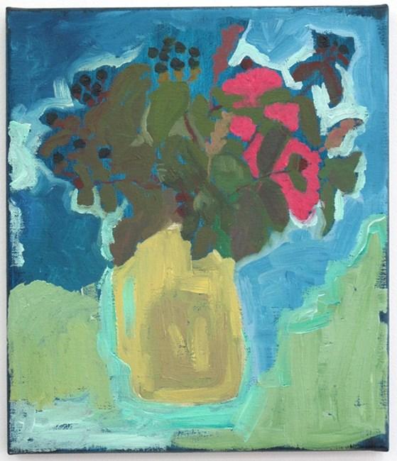 Blueberries, green steps by Layla Rudneva-Mackay contemporary artwork