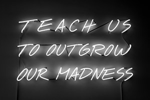 Teach Us To Outgrow Our Madness by Alfredo Jaar contemporary artwork