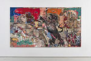 Chariot (red orange green) by Daniel Crews-Chubb contemporary artwork