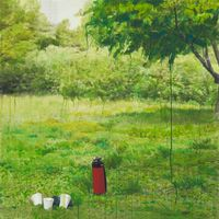 Study of Green-Seoul-Vacant Lot-Olympic Park by Honggoo Kang contemporary artwork painting