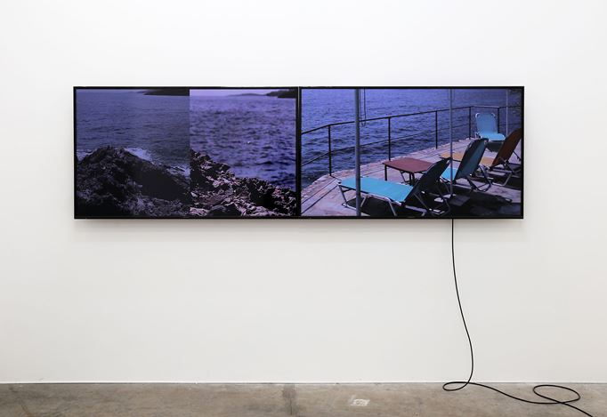 Exhibition view: Nathan Pohio,Spyglass field recordings Vol 4: Sfakia - day for night, Jonathan Smart Gallery (10 July–4 August 2018). Courtesy Jonathan Smart Gallery.