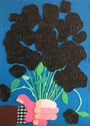 Turkish Roses (Blue) by José Lerma contemporary artwork