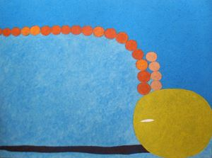 Being supported by one layer of the sky by Nobuko Watabiki contemporary artwork